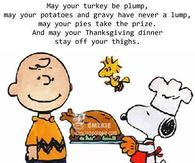May Your Turkey Be Plump, May Your Potatoes And Gravy Have Never A Lump, May Your Thanksgiving Dinner