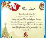 dear friend warm wishes for an old fashion christmas