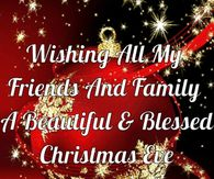 merry christmas to my family and friends quotes