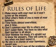 7 Rules Of Life Quote Inspiration Life Quotes With Images Pictures Photos Images And Pics For