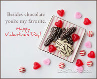 Besides Chocolate You Are My Favorite Happy Valentines Day