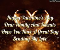 Happy Valentines Day Dear Family And Friends