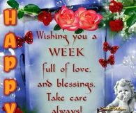 Happy Tuesday Wishing You A Week Full Of Blessings
