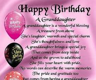 Happy Birthday Granddaughter Quotes Pictures