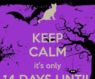 Keep Calm Only 14 Days Until Halloween