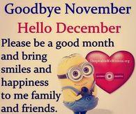 Goodbye November, Hello December, Please Be A Good Month