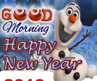 Beautiful Happy New Year Pictures. Olaf Good Morning Happy New Year 2018 Quote Nice Design