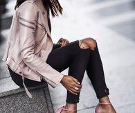 dc8f3ec832 Pink Leather Jacket