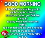 Good Morning God Quotes Pictures Photos Images And Pics For