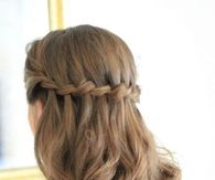 Waterfall braid pictures photos images and pics for facebook waterfall braids with curls ccuart Image collections