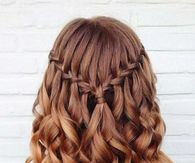 Waterfall braid pictures photos images and pics for facebook half up half down waterfall braid ccuart Image collections