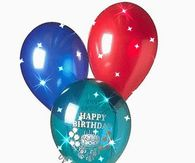 Glittery Birthday Balloon Gif