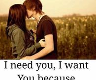 and i want you and i want you