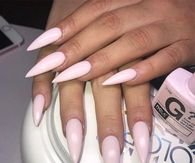 Baby Pink Stiletto Nails