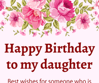 Daughter Happy Birthday Image