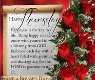 Good morning happy thursday by Bridgette Wright on ...  |Thursday Prayers From The Heart