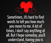 words to say i love you to her
