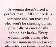 What a woman needs in a man quotes