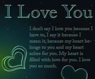 love you for you