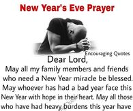new years eve prayer