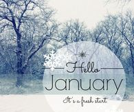 Image result for hello january images