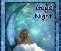 Sleeping Girl Good Night Animated Quote