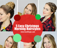 Peachy Christmas Morning Hairstyles Pictures Photos Images And Pics Hairstyles For Women Draintrainus